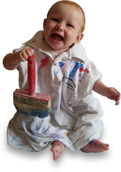 Baby als Maler